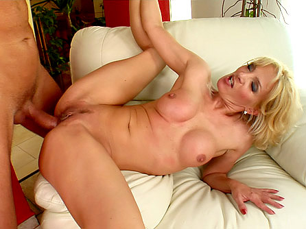 Older MILF Silvya Enjoys a Younger Cock